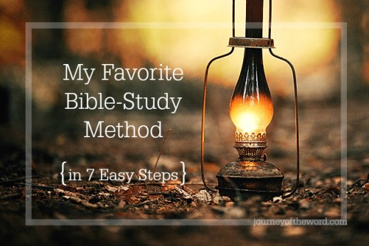 my favorite Bible-study method